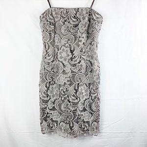 Adrianna Papell Evening Gray Strapless Dress